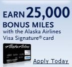 Alaska Airlines Visa Signature Card - Earn 25,000 Bonus Miles