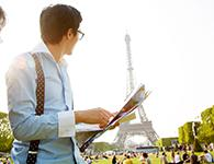 Man in front of Eiffel Tower